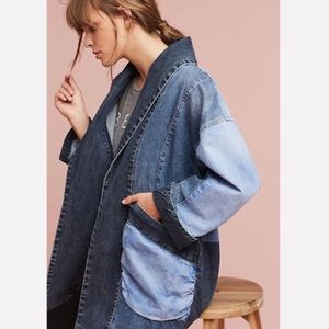 Anthropologie Pilcro Jadira Denim Kimono Jacket